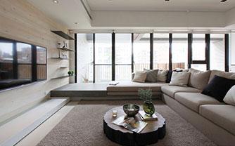 米白色地砖 打造清爽乐活休闲概念
