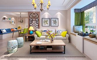 精巧迷人机能满分 120平美式三居室