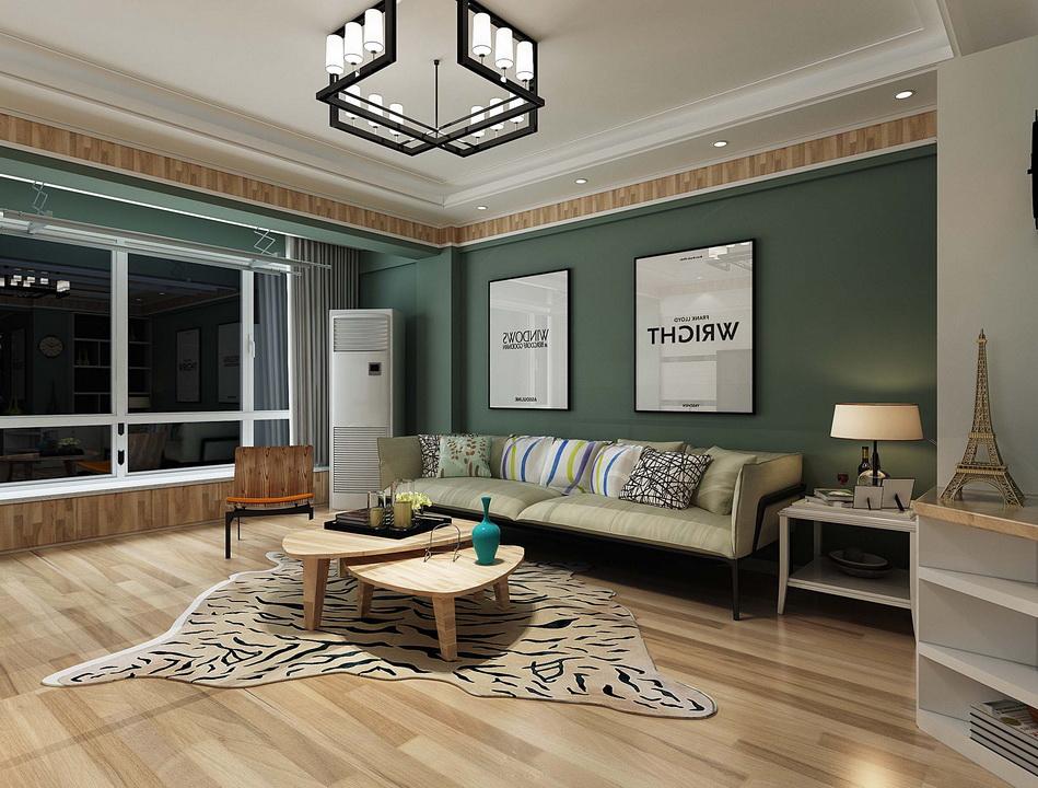 清新怡人的绿色现代风,延伸小户型的视觉感