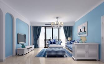 地中海蓝色风格