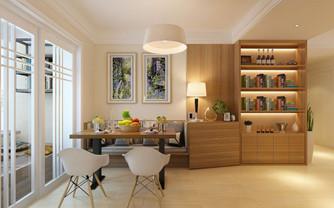 暖色系简约三居室家居设计