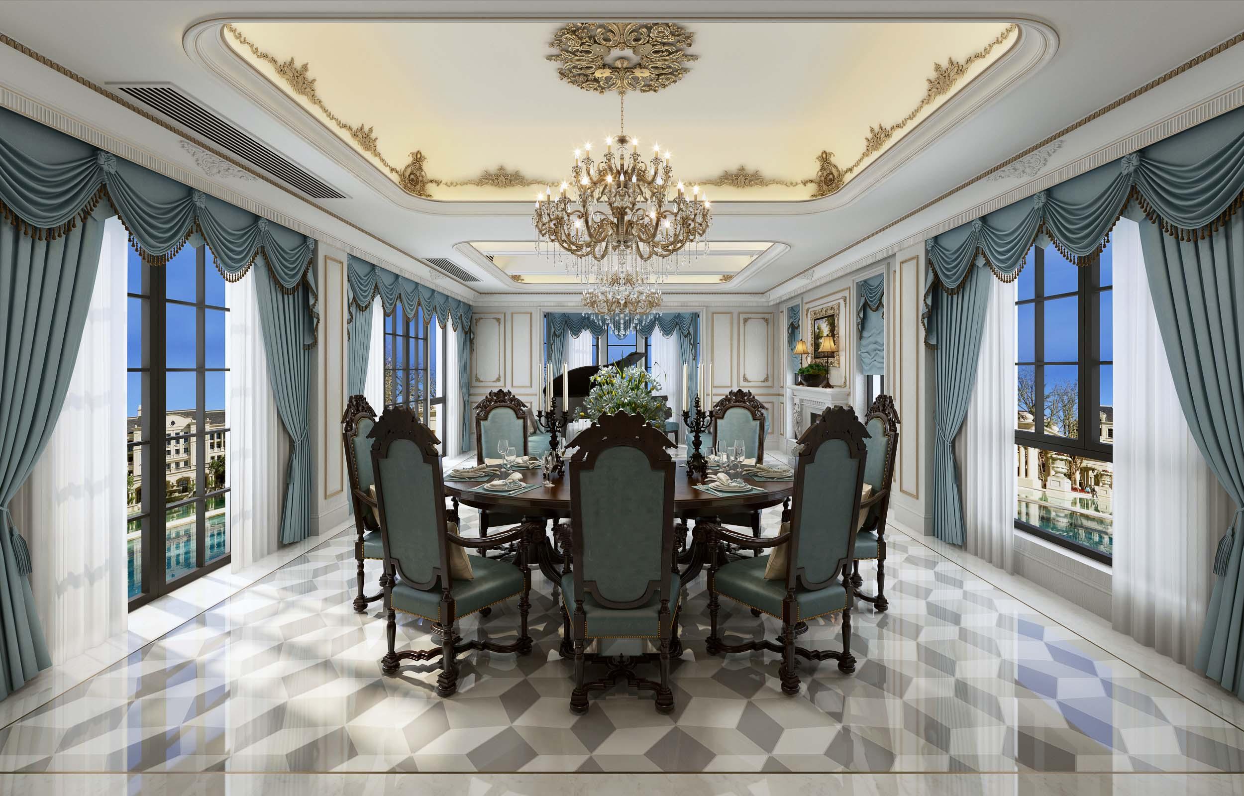 别墅欧式装修风格效果图